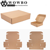 Cheap custom plain single walled corrugated cardboard mailing packaging boxes