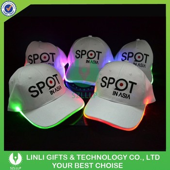 lighted baseball hats cap manufacturers led caps custom printed pathfinder