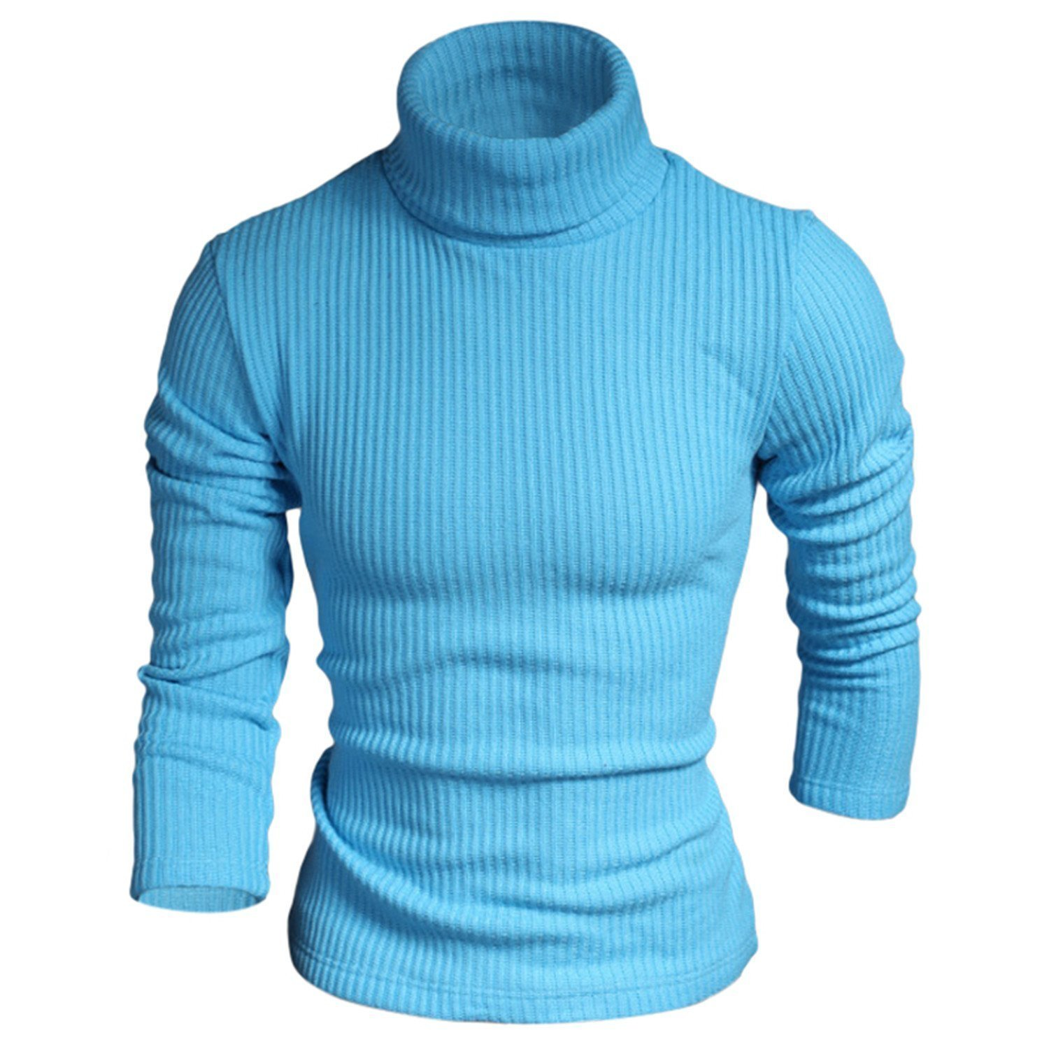 6fc1d2da886 Get Quotations · B dressy Men Knitted Sweaters Turtle Neck Solid Color Slim  Casual Tops Jumpers Pullover Blusa Male