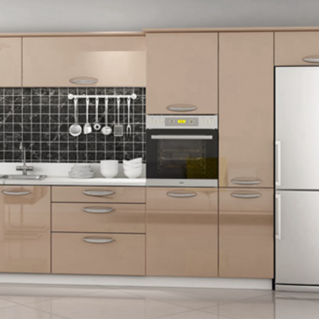 Champagne Color Acrylic High Gloss Painting Laminate Kitchen Cabinets Door  - Buy High Gloss Kitchen Cabinet Door,High Gloss Laminate Kitchen ...