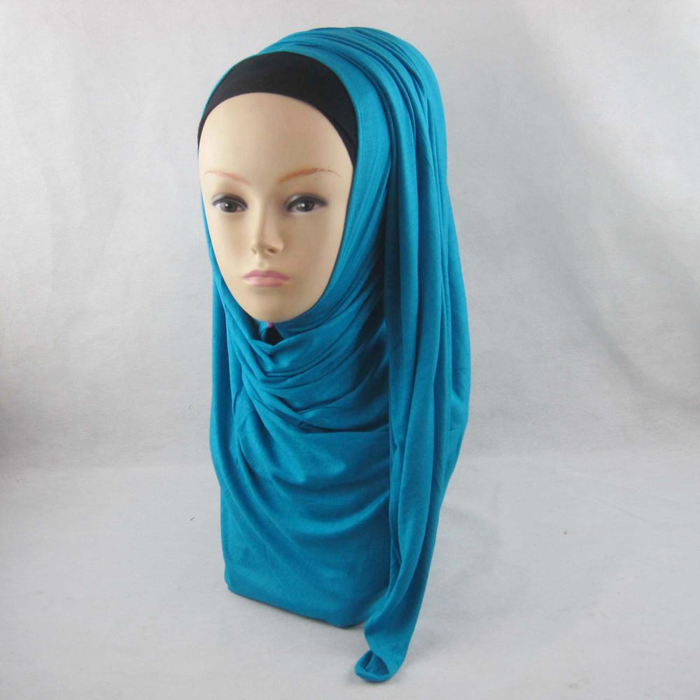 new design rayon jersey scarf pray plain hijab muslim women turban