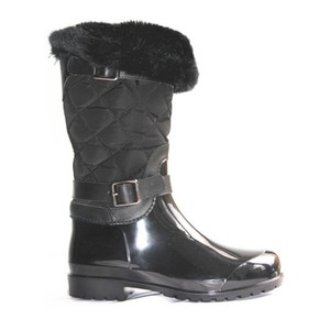 waterproof fabric with buckle wellies winter long woman boots for rain