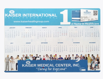 EVA/Rubber base desk mat with calendar, counter mat with calendar, Custom counter mat in factory price