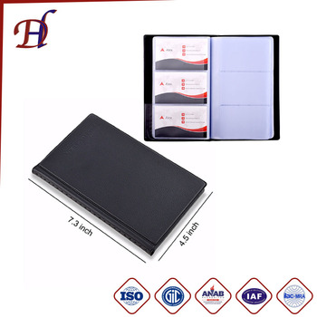Custom Photo Card Album Holder Large Capacity Pockets Leather Cover