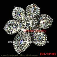 fashion large pearl brooch shoes flower pins shinning colored full rhinestone brooches
