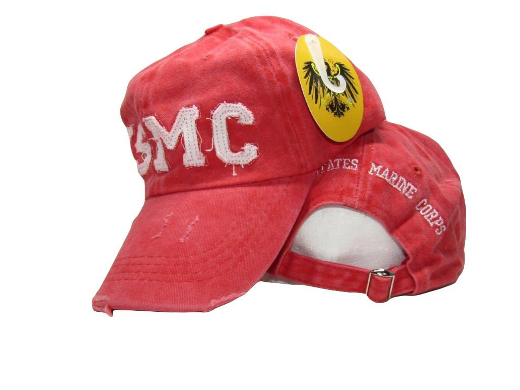 Get Quotations · Ball Cap  New Hat Red Washed USMC US Marine Corps  Embroidered Cap Licensed USMC 3473051896c6