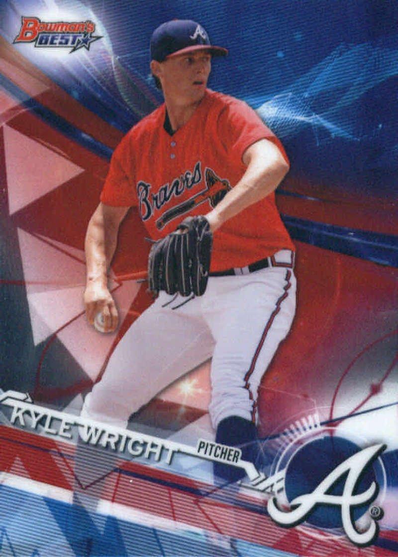 2017 Bowman's Best Top Prospects #TP-11 Kyle Wright Atlanta Braves Baseball Card