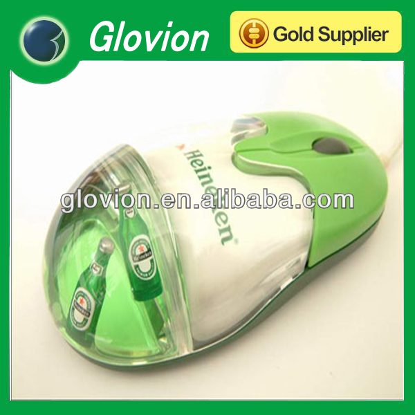 Gracious Liquid Mouse optical 3d wired mouse egg shape liquid mouse