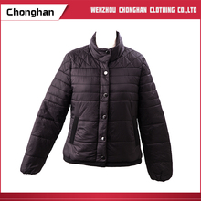 Chonghan 2017 New Fashion OEM Black Cotton Down Jacket For Mens
