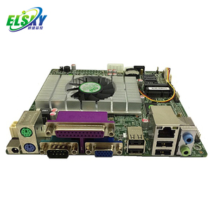 ELSKY Intel Atom D425 CPU Dual VGA Output 1.8GHz With LPT PS/2 Ports DC Power SIM slot LVDS Display Mini-ITX Motherboard E4M2C6