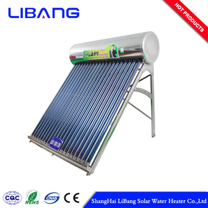 Selected material compact solar water