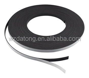 Isotropic rubber magnet strip in magnetic materials self-adhesive tape
