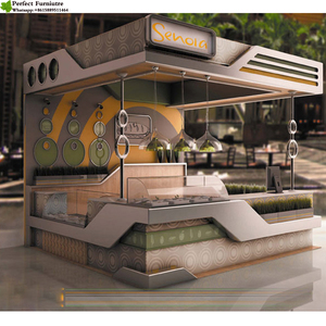 Customized Mall Bubble Tea Kiosk Franchise Design Ideas Juice Bar Kiosk Manufacturer