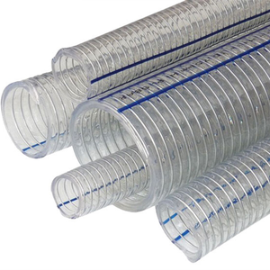 pvc spiral steel wire reinforced vacuum suction hose steel wire braided pvc hose