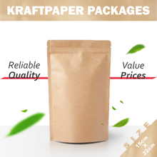 Accept customization kraftpaper packages food packing bag package size 15cm*22cm food packing bag custom food packing