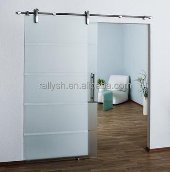 6FT Door Track Kit Closet Hardware Set Interior Sliding Glass Steel Door
