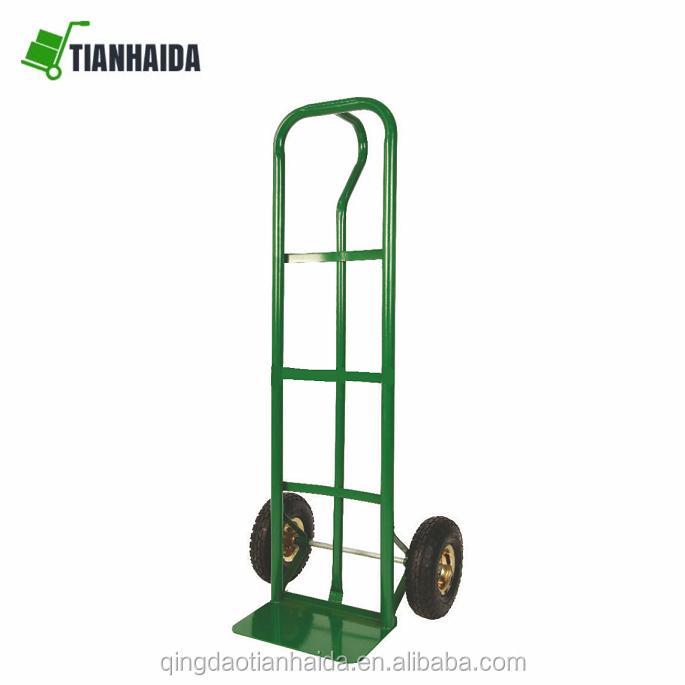 HT2069   Steel Hand Truck trolley  Vertical Loop Handle Metal Extruded Nose Plate