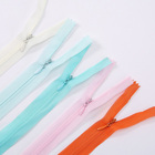 custom #3 closed end colorful nylon lace invisible zipper for dress