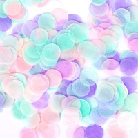 Boomwow funny party decor beautiful unique colorful round paper tissue confetti for wedding party