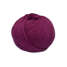 Beetroot colored 4 Ply thick soft crochet cotton wool blend hand knitting yarn for wholesale price in bulk dyed