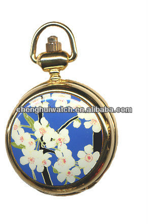 New trend fashion and archaistic Flower Pocket Watch favor 2017 pocket watches key chain