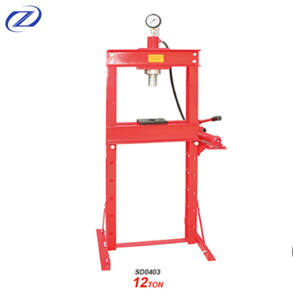 12Ton Hydraulic Shop Press With Gauge And CE