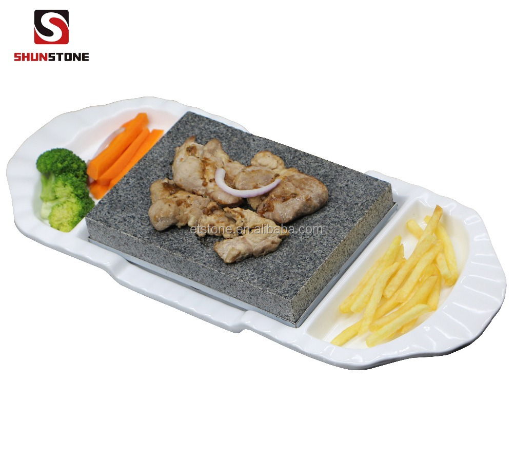 Basalt Steak Grillplaat Lava Steen Grill Voor Koken Hot Stone BBQ Grill