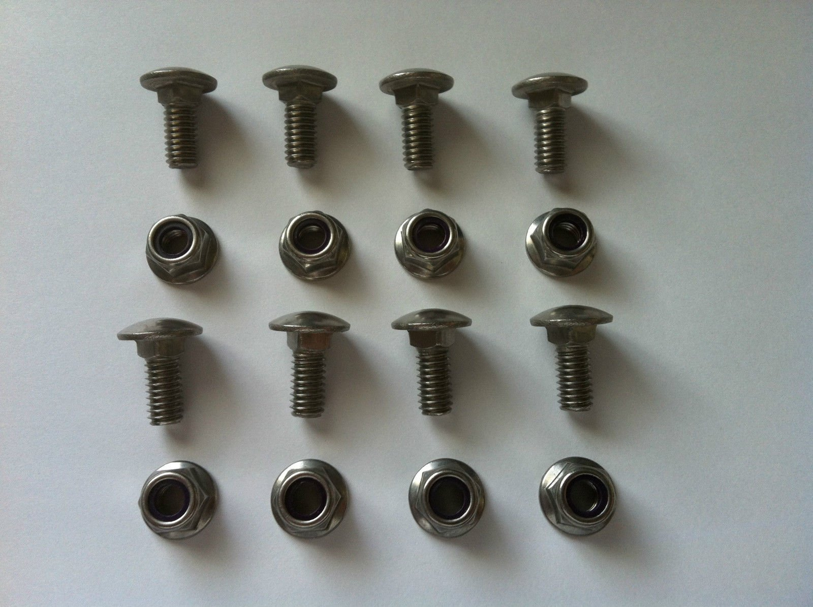 8 Pack - Stainless Steel Replacement Nuts/Bolts for 712-04063 / 710-0451