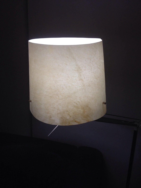 Ikea floor lamp parchment handmade