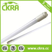 Energy saving CE ROHS ETL DLC qualified 150lm/w led t8 18 w Tube