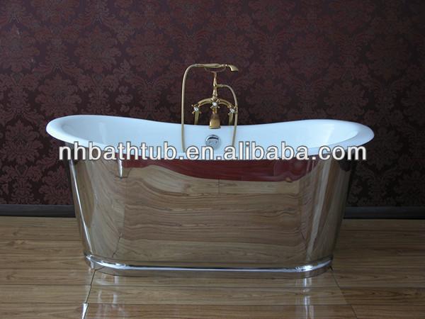 Mirror Finish Stainless Steel Skirt Tub