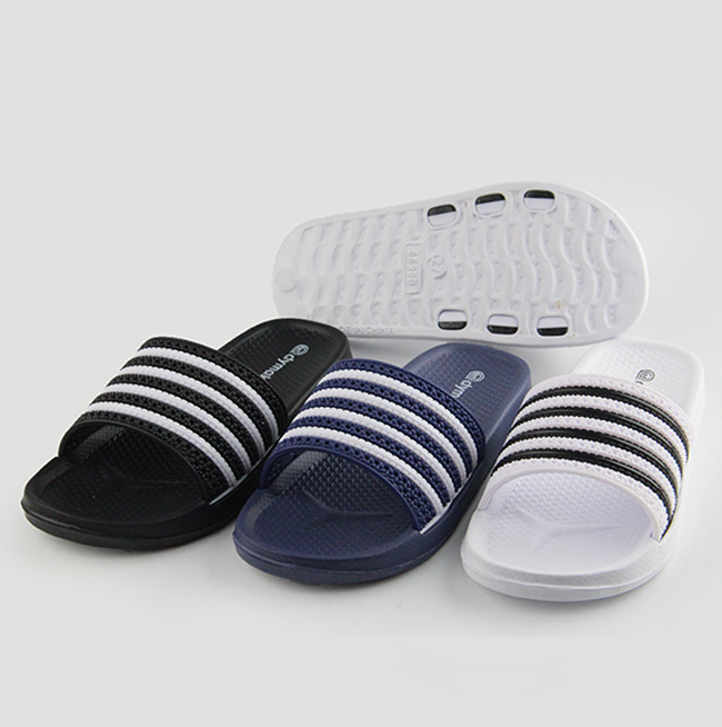 Top Striped Children Black-White Striped EVA <strong>Slippers</strong> Men Plastic Injection Slide Custom Kids <strong>Slippers</strong>