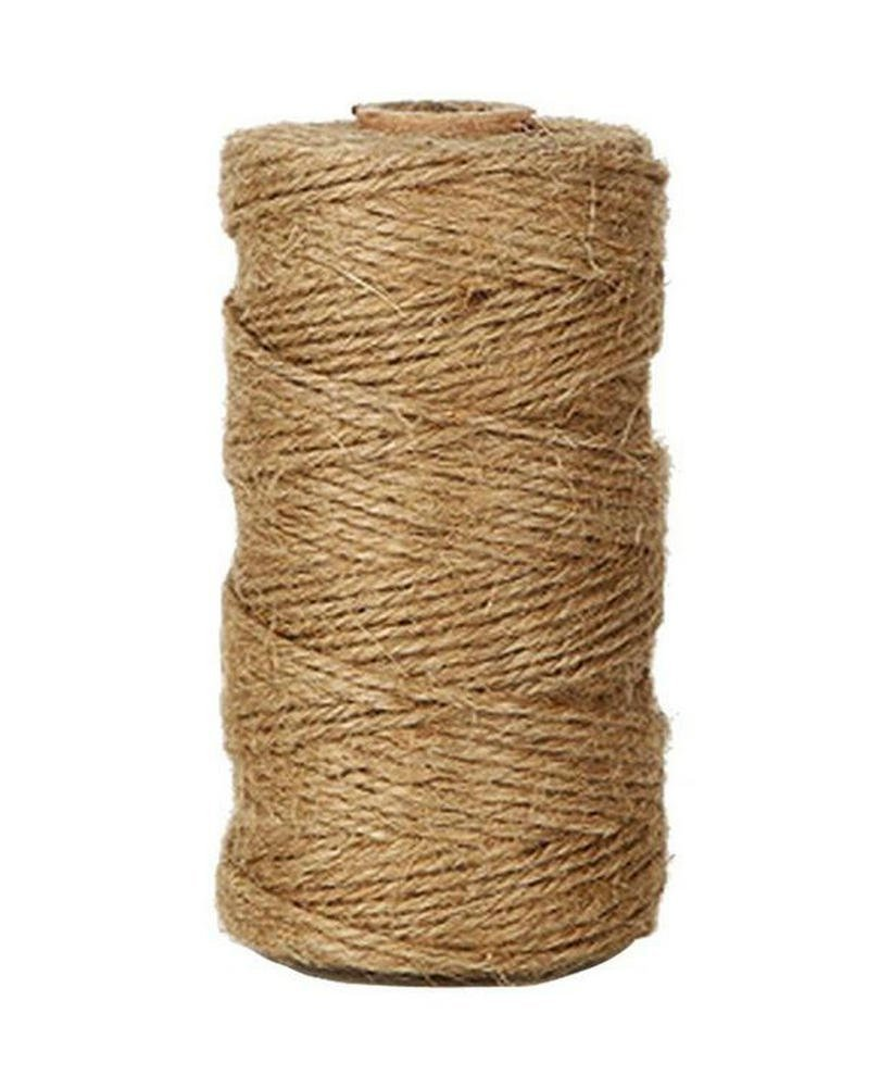 Hosaire 300 Feet Natural Jute Twine 1MM Hemp Cord Jute Rope String Gift Twine Packing Materials Heavy Duty Natural for Arts Crafts Gardening Applications