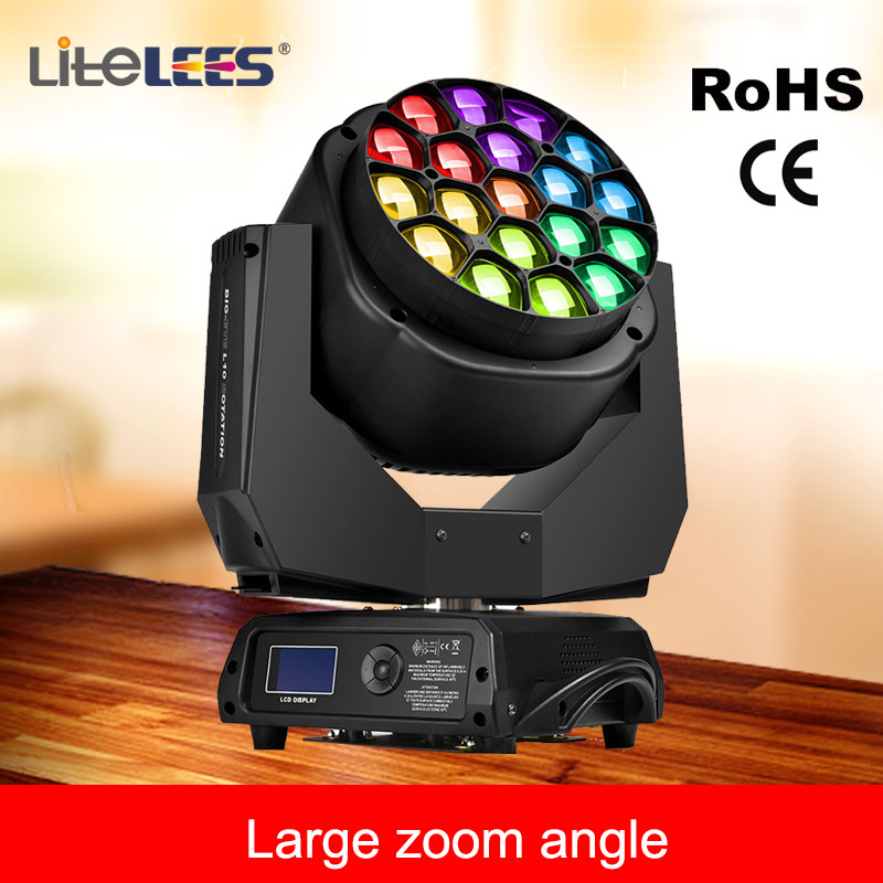 LiteLees 19x15w led wash moving head bee eyes mini moving head