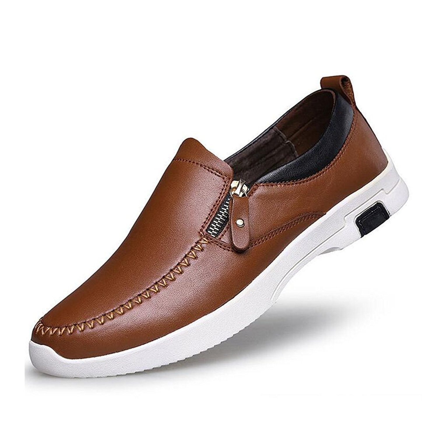 Color : A, Size : 44 XUEXUE Mens Shoes Leather Spring Fall Driving Shoes Comfort Loafers /& Slip-Ons Driving Shoes for Athletic Breathable Casual Outdoor Formal Business Work