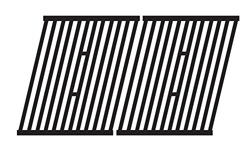 Music City Metals 64362 Matte Cast Iron Cooking Grid Replacement for Select Gas Grill Models by Broil King, Broil-Mate and Others, Set of 2