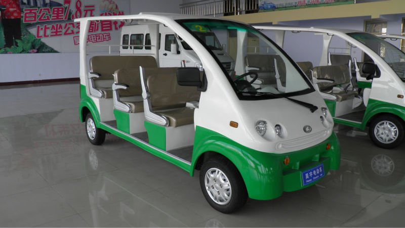 Electric Sightseeing Cart Eone S01 48v 4kw Eec Logated Penger Car 7