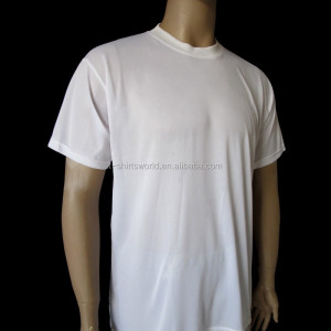 OEM Promotion Crew Neck White T shirt in Free Size Low Quality Polyester Designer Unisex Blank Tee Shirt