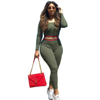 2019 Newest Hot Fashion Women Sports Suit sexy one shoulder Top+Stretch pants Two-piece Outfit Yoga Workout Sportswear