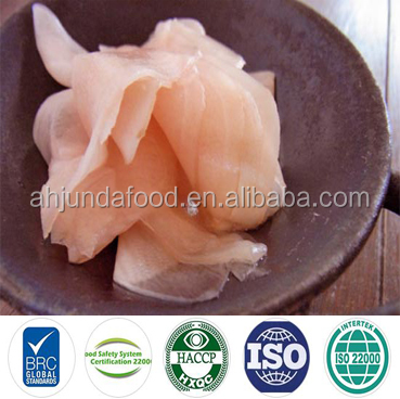 BRC Pink Sushi Ginger Sushi Split Salted Ginger with Chinese Factory Supply
