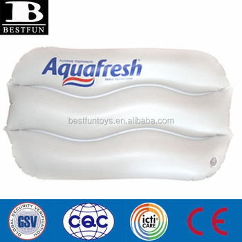 Business Gift Use Inflatable Bath Pillows Transpa Pvc Travel Neck Water Pillow Plastic Waterproof Beach