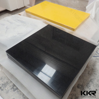 solid surface kitchen top black galaxy