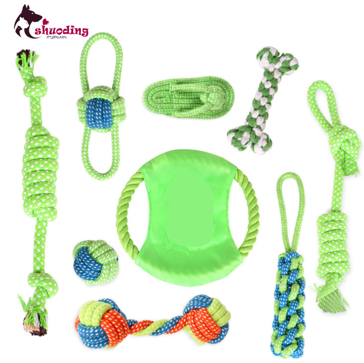 Wholesale Cotton Rope Toys Dog Bite Teeth Cleaning Toy Sets Pet Cleaning Supplies
