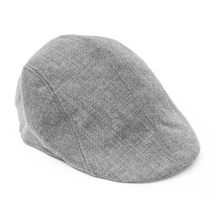 Ukerdo Solid Denim Duckbill Flat Cap Cabbie Newsboy Fitted Hats for Men