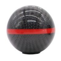 Universal car ball Gear Carbon fiber Racing Stick Cool Acrylic Shift Knob