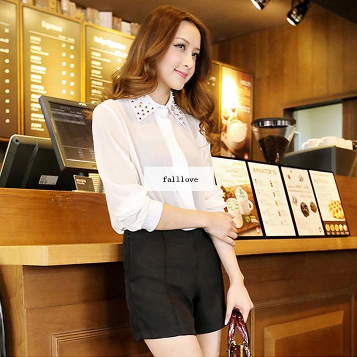 Женщины лето пр свободного покроя сплошной цвет молния завышенная талия шорты брюки 3 цвета S M L XL 31
