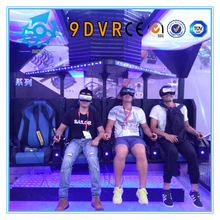 9d vr 4seats Cinema 360degree Rotating 9 Cinema 6dof Electric flight Motion simulator 9d vr