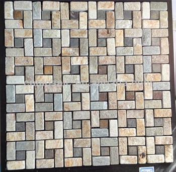 Zigzag Antica Ardesia Pietra Mosaico Per La Cucina - Buy Pietra ...