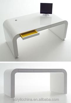 Stylish Furniture White Acrylic Desk Living Room Lucite