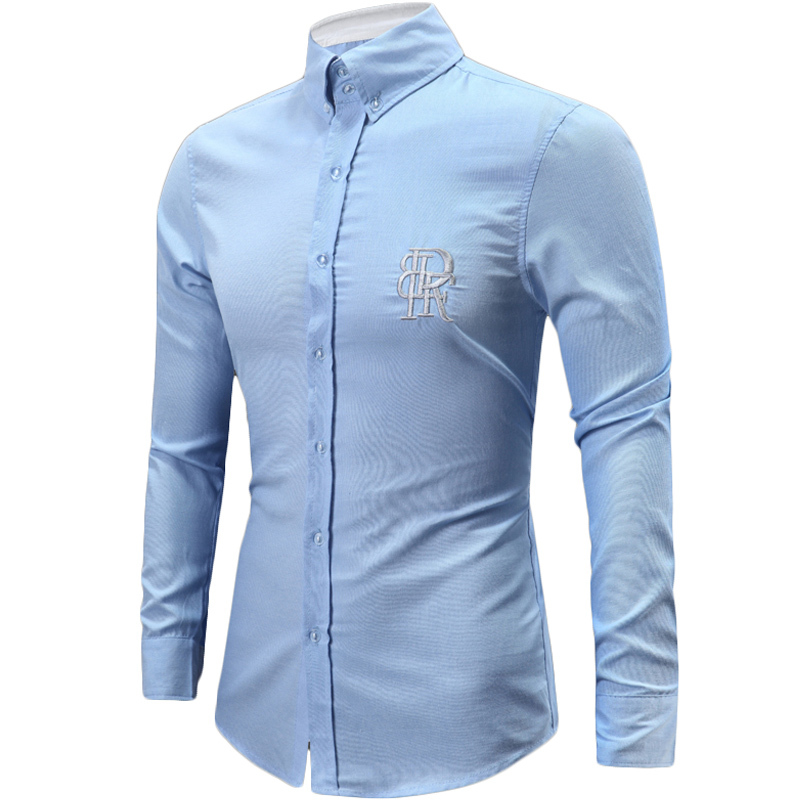 1ba19ad4 Buy New Sky Blue Long Sleeve Men Shirt 2015 Autumn Fashion Design ...